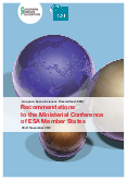 Recommendations to the Ministerial Conference of ESA Member States, 20-21 November 2012