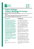 Systems Biology: a Grand Challenge for Europe