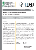 Research Integrity: global responsibility to foster common standards