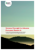 Science Foresight to Advance European Research