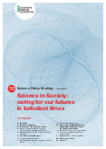 Science in Society: caring for our futures in turbulent times